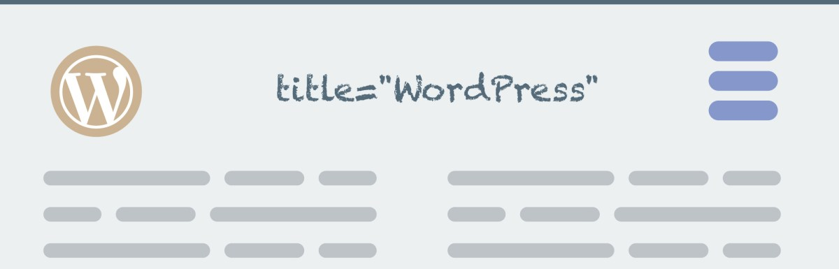 Title Attribute For Menu Items in WordPress