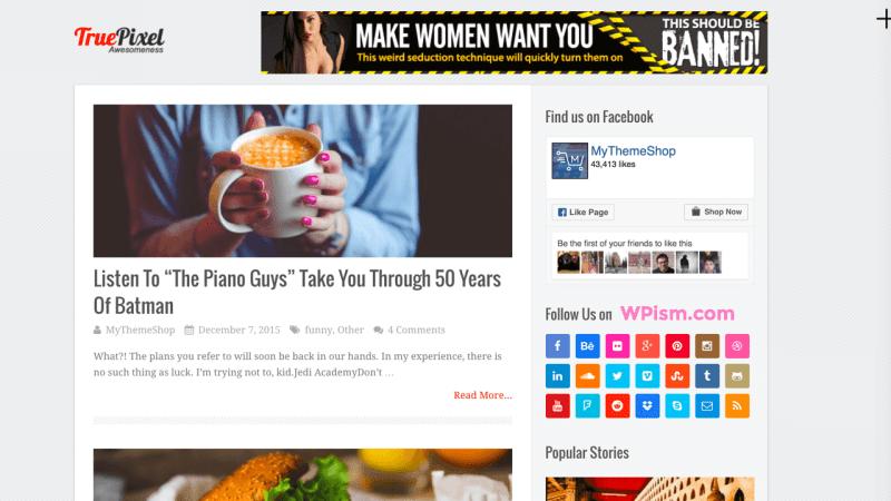 TruePixel Best AdSense Optimized WordPress Theme MyThemeShop