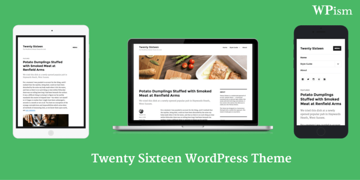 Twenty Sixteen WordPress Theme 2016