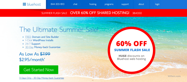 Ultimate Summer Sale Bluehost Coupon 2017