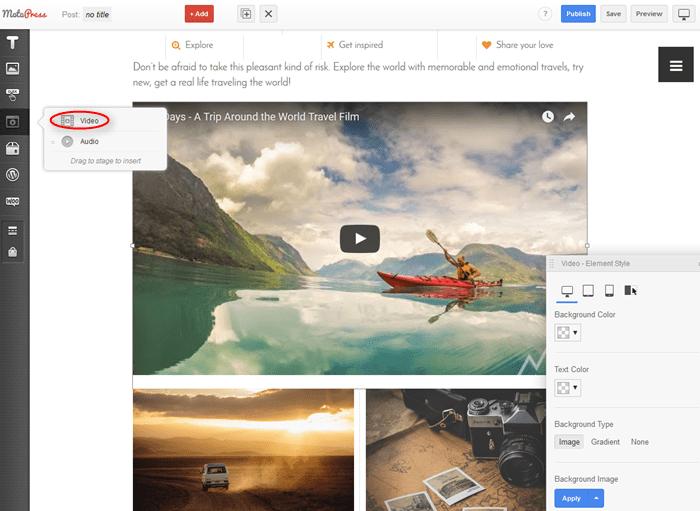 Video MotoPress Page Builder Modules