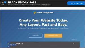 Visual Composer Black Friday Sale