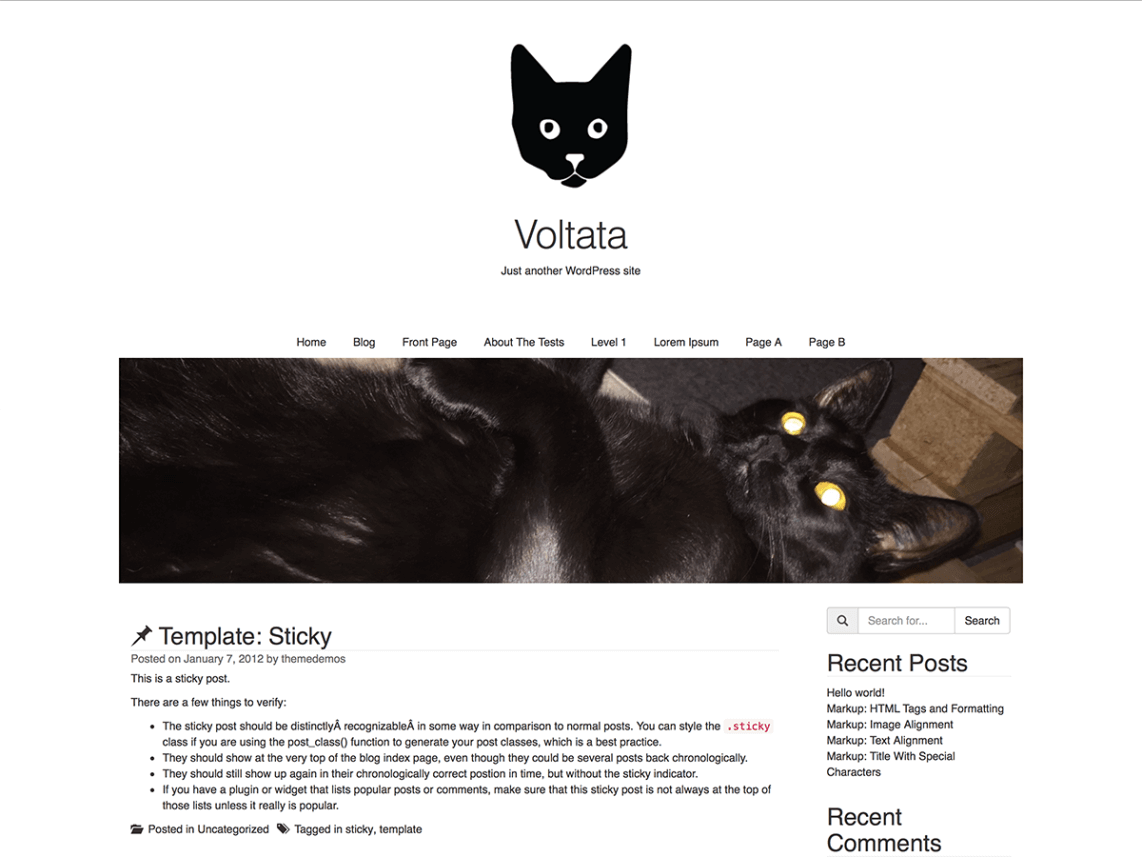 Voltata By Sulten hest WordPress Theme