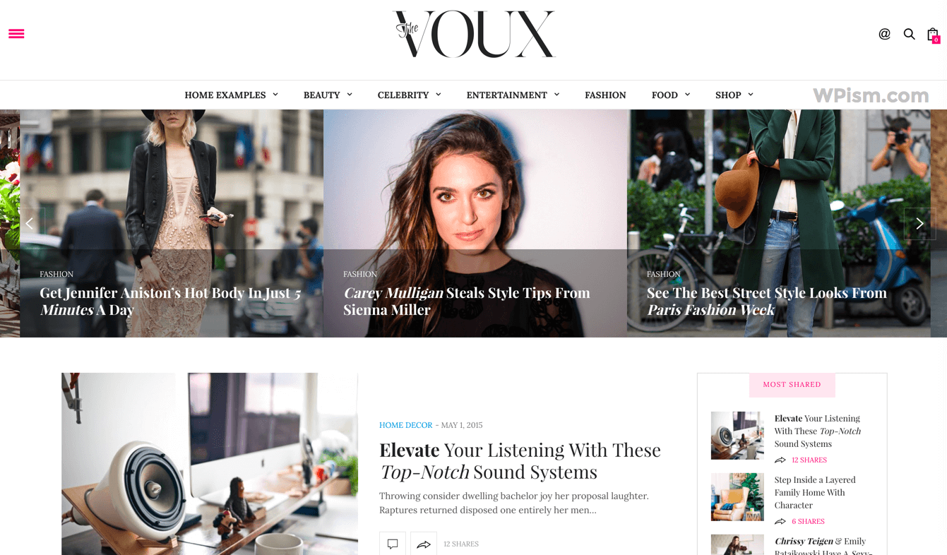 Voux AdSense Optimized WordPress Theme