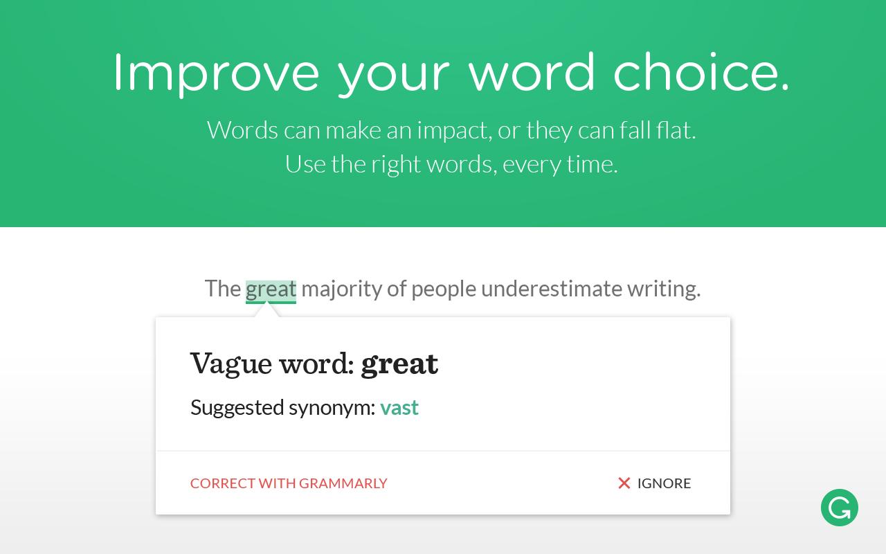 Word Choice Grammarly Online Grammar Tool