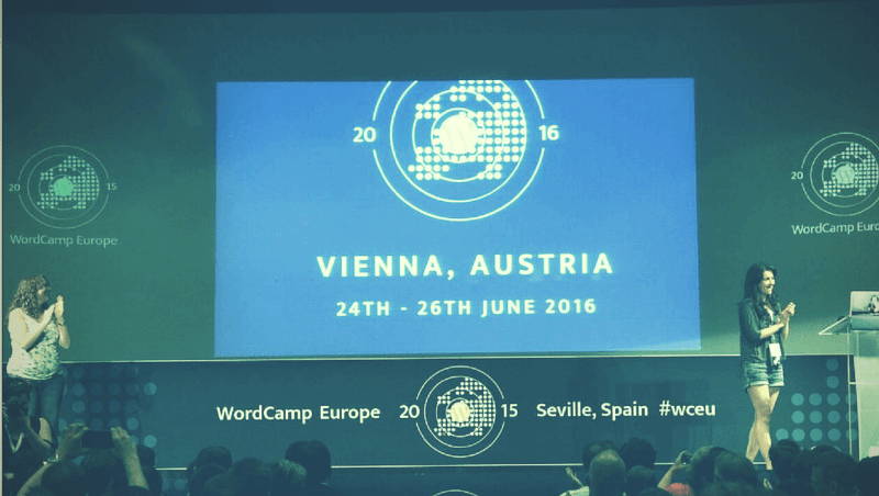 WordCamp Europe 2016 in Vienna Austria