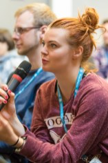 Maja Benke in audience at WordCamp London 2016-4054