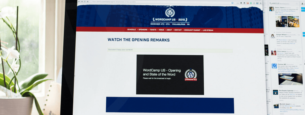 First WordCamp US Live Stream Experience