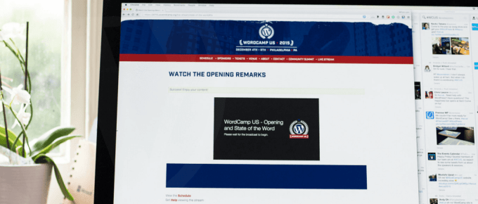 WordCamp US 2015 Live Stream First