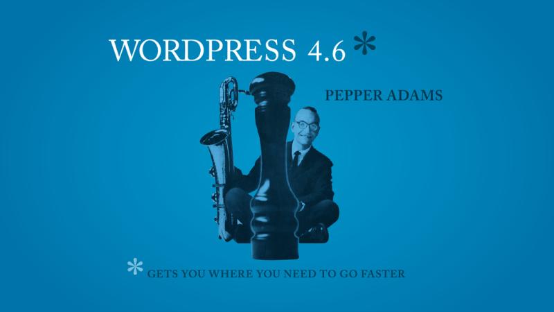 WordPress 4.6 Pepper Released