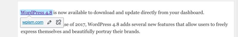 WordPress 4.8 Link Boundaries Feature
