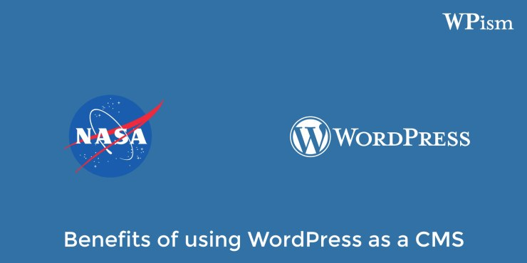 A NASA website publishes about benefits of using WordPress as a CMS