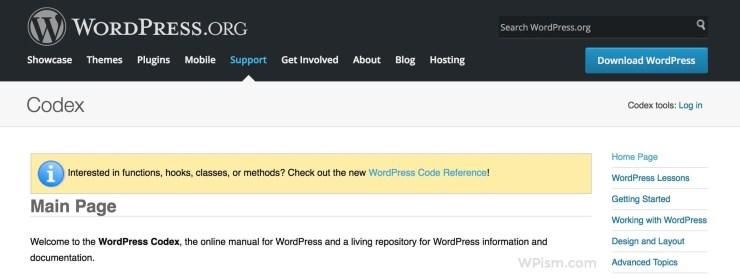 WordPress Codex Official WordPress Resource