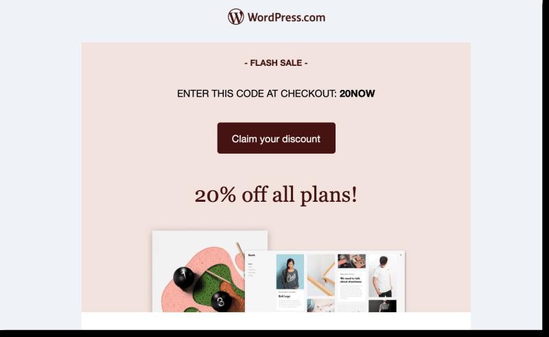 WordPress Coupon Flash Sale