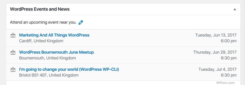 WordPress Events and News 4.8 Widget