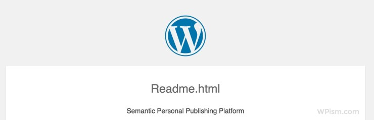 WordPress Installation Readme File