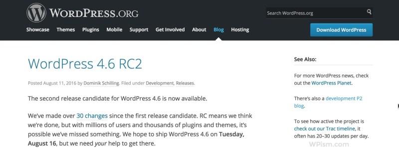 WordPress Official Blog News Resource