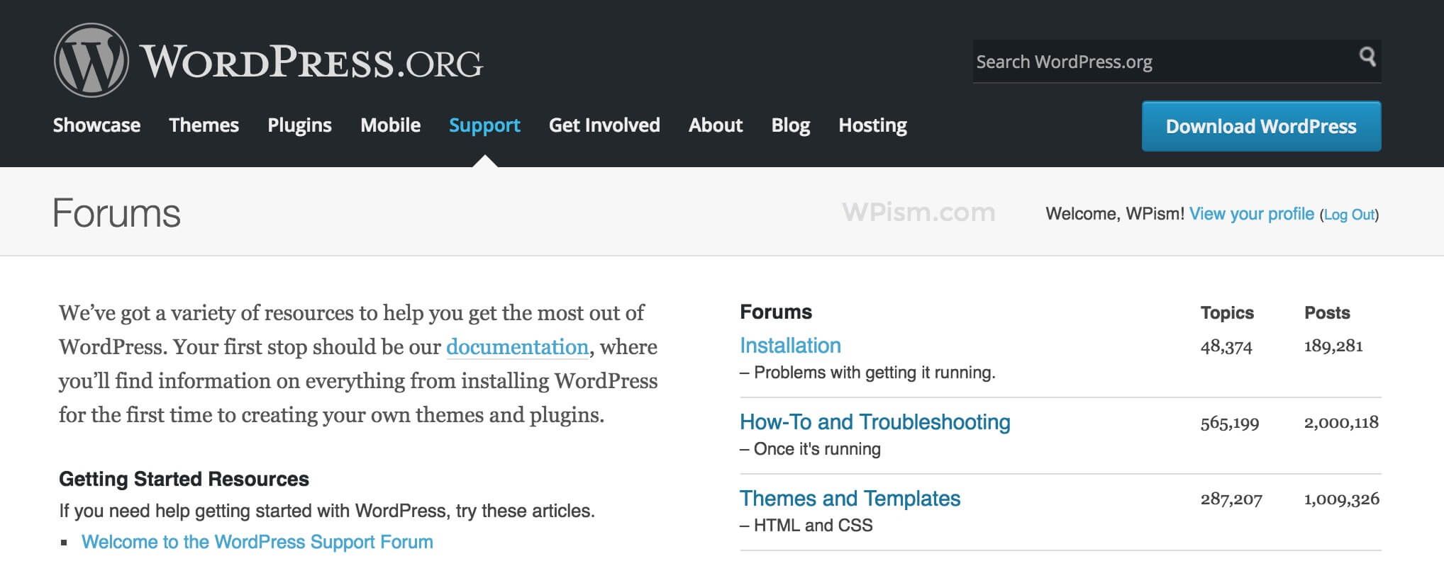 WordPress Help and Support Forums Official Resource