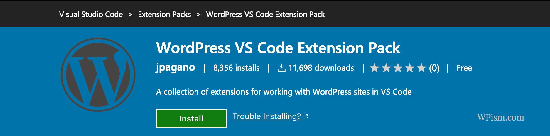 WordPress VS Code Extension Pack