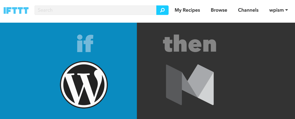WordPress to Medium IFTTT post