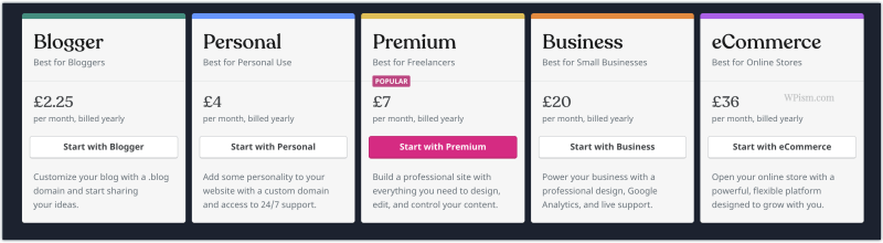 WordPress.com Pricing Plans discount