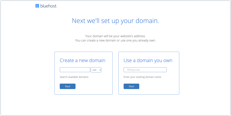 start bluehost with domain coupon code free