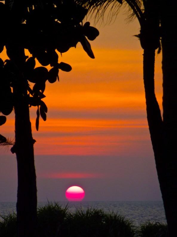 sunset @ mai khao beach phuket thailand width=