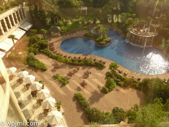 Grand Hyatt Santiago Executive Suite Terrace Pool View
