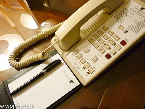 JW Marriott Lima Standard Room - phone
