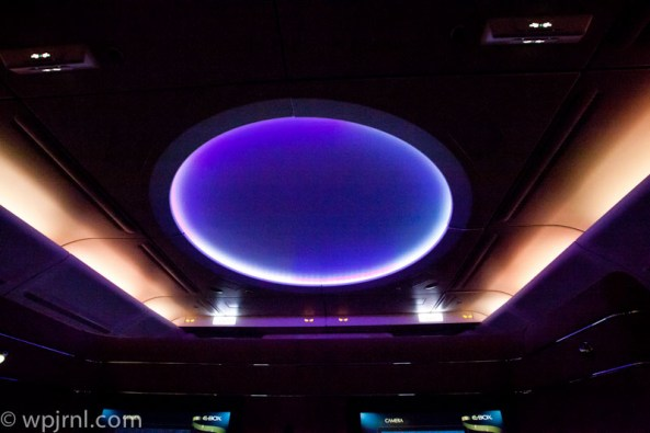 Etihad Airways New York to Abu Dhabi First Class - Mood Light