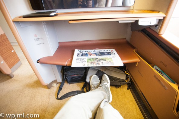 Singapore Airlines First Class SQ211 SIN-SYD Boeing 777-300 (773) - Legroom