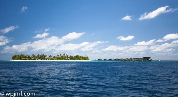 approaching hadahaa - park hyatt maldives