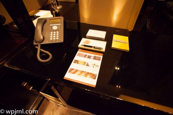 Park Hyatt Shanghai Diplomatic Suite - office setup