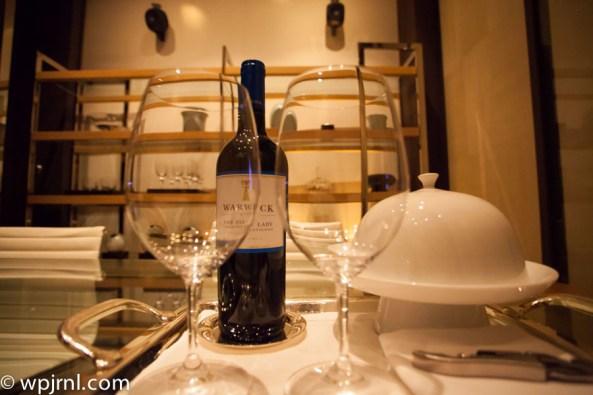 Park Hyatt Shanghai Diplomatic Suite - wine