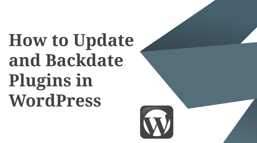 How to Update and Backdate Plugin in WordPress