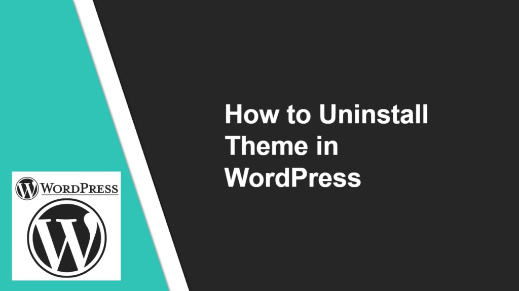 How to Uninstall WordPress Theme