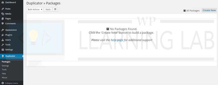 WordPress Duplicator Plugin Showing No Packages Found