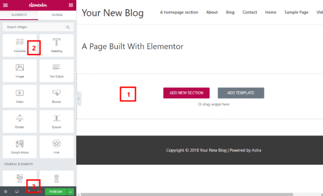 elementor review the interface