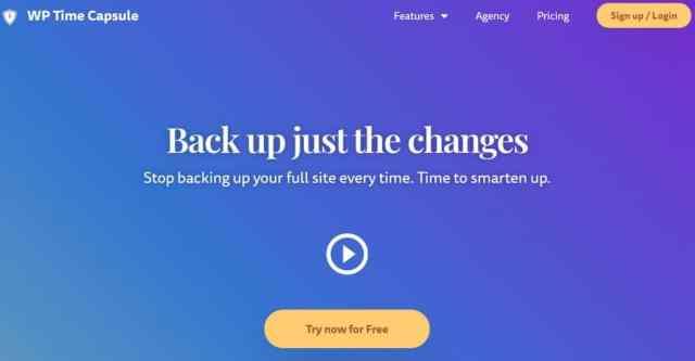WP Time Capsule WordPress backup plugin