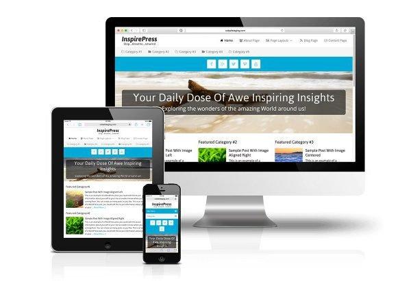 CobaltApps InspirePress Skin for Dynamik Website Builder