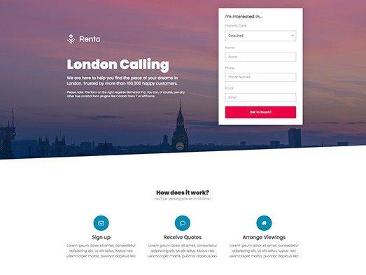 Elementorism London Landing Page