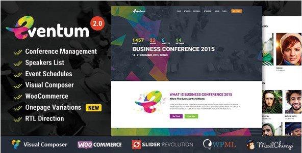 Eventum - Conference & Event WordPress Theme