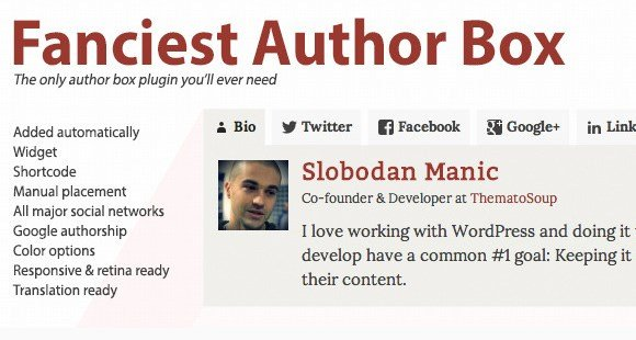 Fanciest Author Box