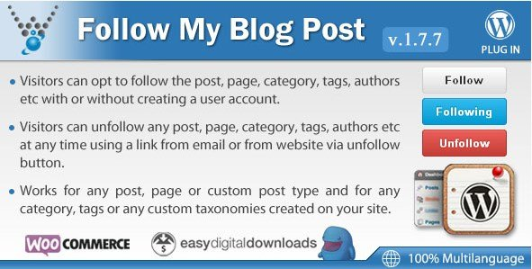 Follow My Blog Post - WordPress Plugin