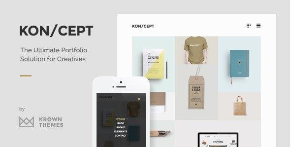 KON/CEPT - A Portfolio Theme for Creative People
