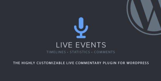 Live Events WordPress Plugin