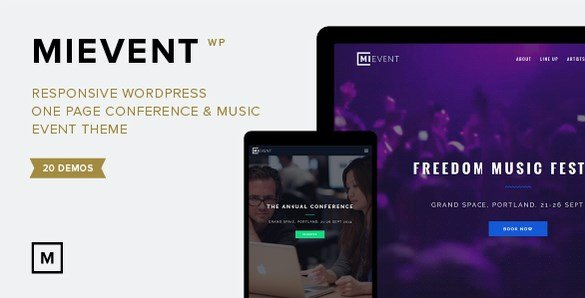 MiEvent - Responsive Event & Music WordPress Theme