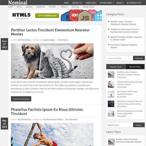WPLocker-MyThemeShop Nominal WordPress Theme