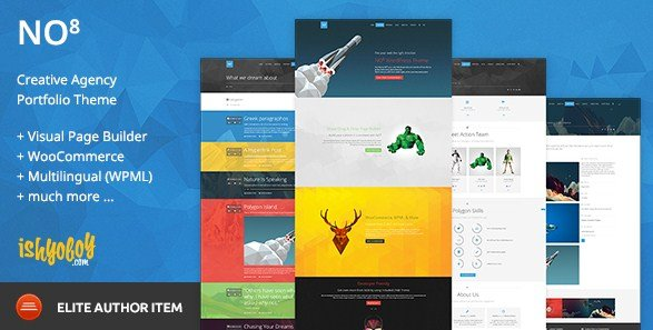 NO8 WP - Creative Agency Portfolio Theme