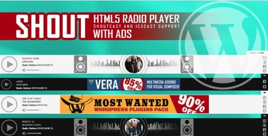 SHOUT - HTML5 Radio Player With Ads Plugin